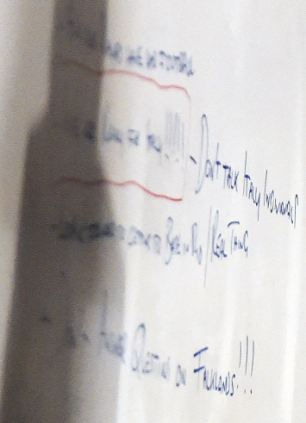 Tactics revealed: A flipchart in the England dressing room