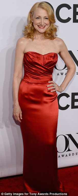 Jessica Rabbit eat your heart out: Patricia Clarkson, 54, looked sensational in her slinky red strapless gown