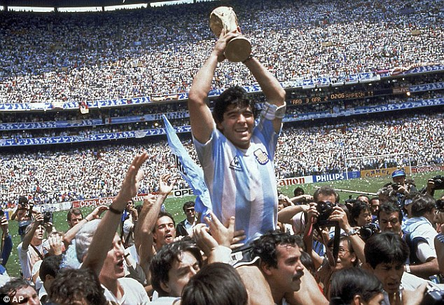 Waiting game: Diego Mardona inspired Argentina to their last World Cup win in Mexico 1986