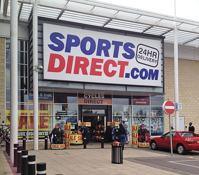 Staff scheme: Up to 3,000 staff could also receive a bonus if Sports Direct meets certain sales targets