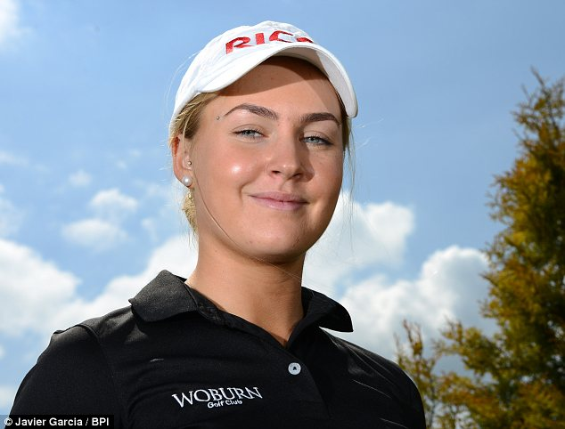 Teen sensation: Charley Hull from Woburn is the best young female golfer in Europe