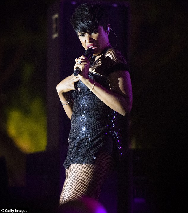 Everything okay? JHud was snapped making an unfortunate face during her performance