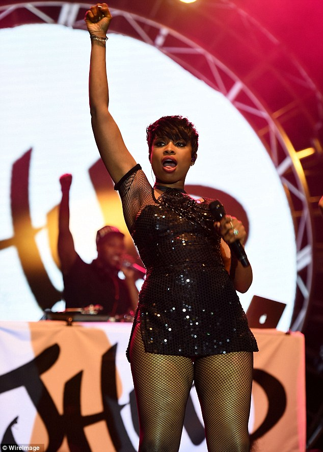 Headliner: The singer was one of the main acts on Saturday, which included Azealia Banks