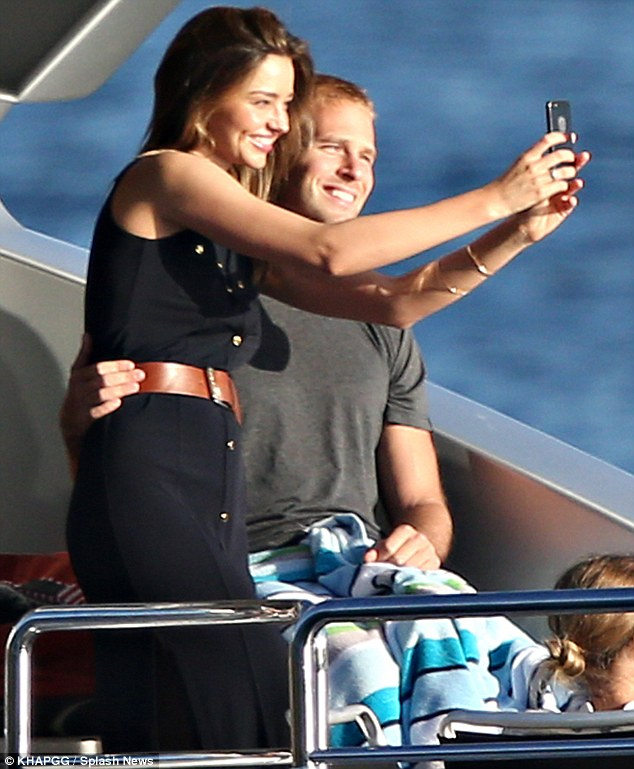 Smile! Miranda Kerr and Australian entrepreneur Charlie Goldsmith were rumoured to be romantically involved after they were soon looking cosy with each other on board a yacht on Sydney Harbour last month