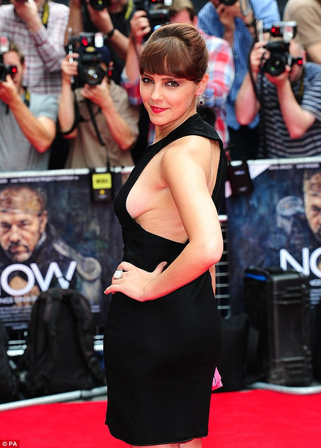 Oh Lady Anne! Annabel Scholey shows off some serious side-boob at the premiere of Now : In the Wings on a World Stage
