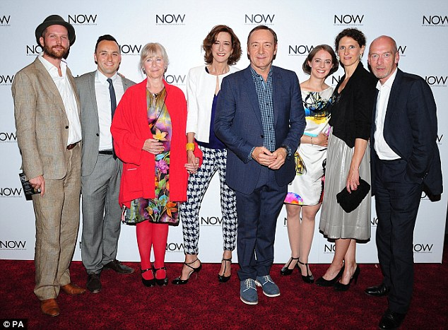 In good company: (Left to Right) Jeremy Whelehan, Simon Lee Phillips, Gemma Jones, Haydn Gwynne, Kevin Spacey, Katherine Manners, Hannah Stokely and Gary Powell