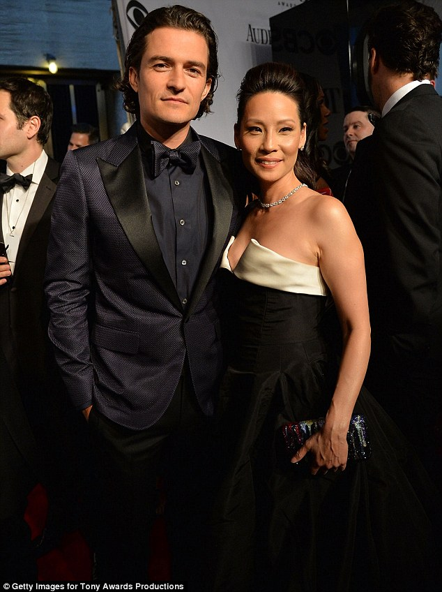 Musical awards: Orlando teamed up with Elementary star Lucy Liu at the awards ceremony