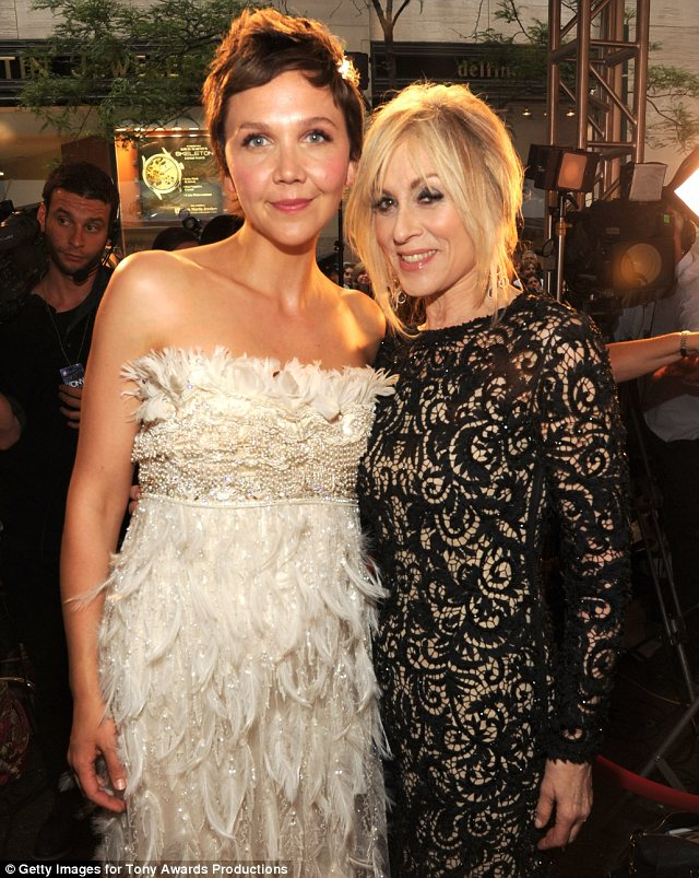 Talented ladies: Maggie chatted with former Who's The Boss star Judith Light at the annual awards ceremony