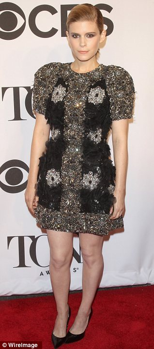 All that glitters: Breaking Bad's Anna Gunn and House Of Cards actress Kate Mara sparkled on the red carpet
