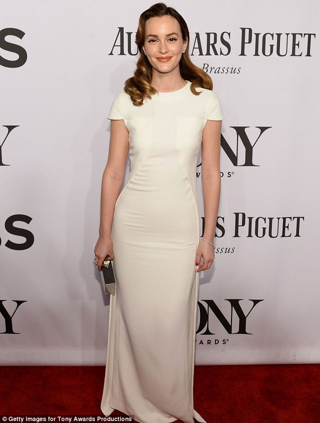 Theatre star: Former Gossip Girl actress Leighton is currently starring in Of Mice And Men with Chris O'Dowd and James Franco