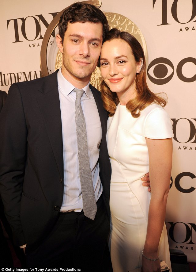 Newlyweds: Adam Brody and Leighton Meester made a rare red carpet appearance together a few months after their surprise marriage