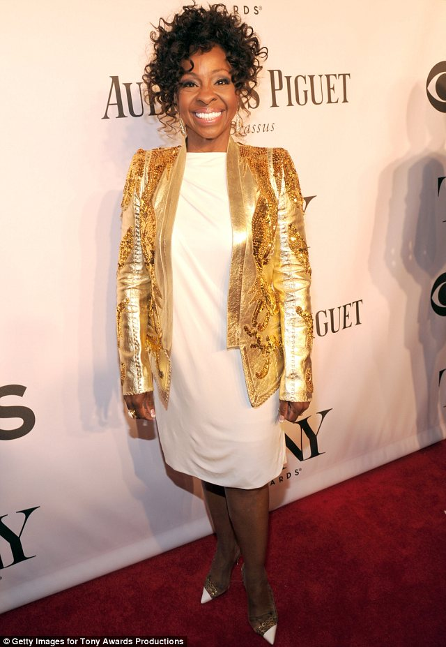 Golden Girl: Gladys Knight chose a gold jacket over her white dress for the Tony Awards