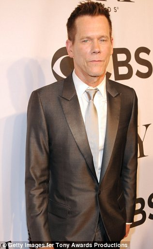 Dapper: Ethan Hawke and Kevin Bacon were handsome in their tailored suits at the Tony Awards in NYC