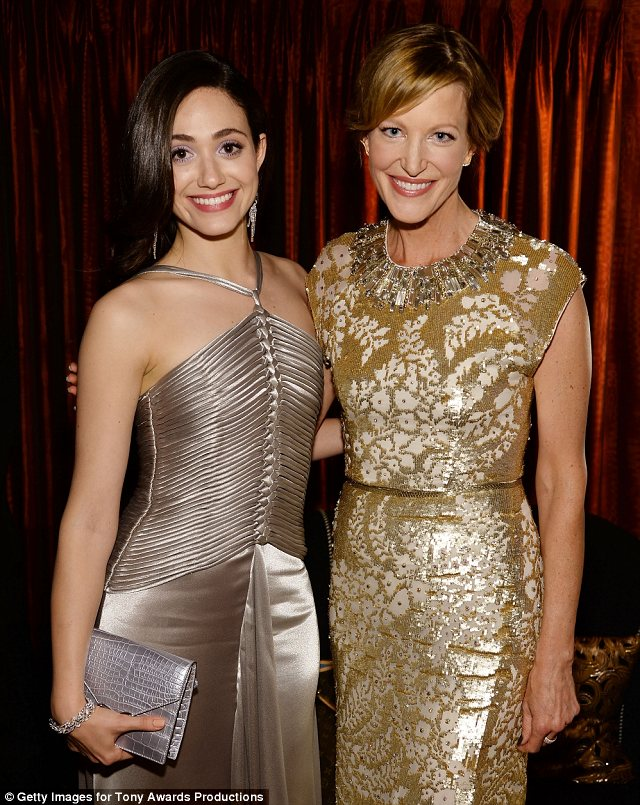 TV stars: Emmy and Anna enjoyed a chat as they took a night off from work to check out the Tonys