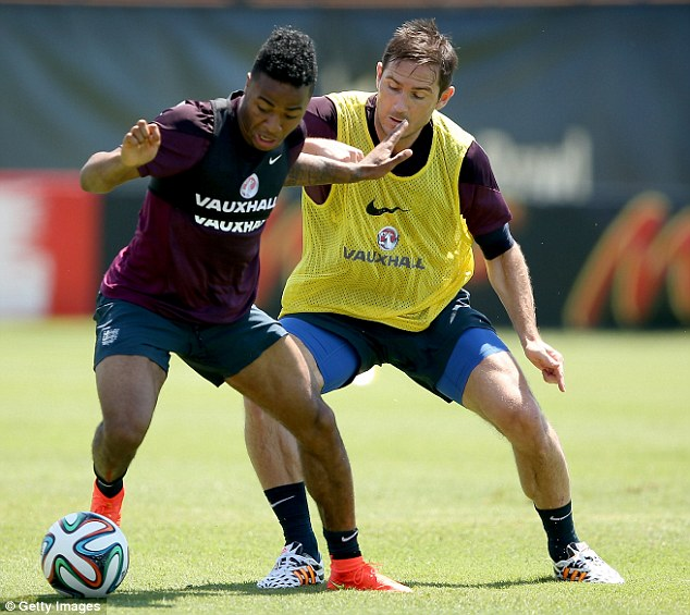 Exciting: Sterling could be thrown into the starting line up against Italy