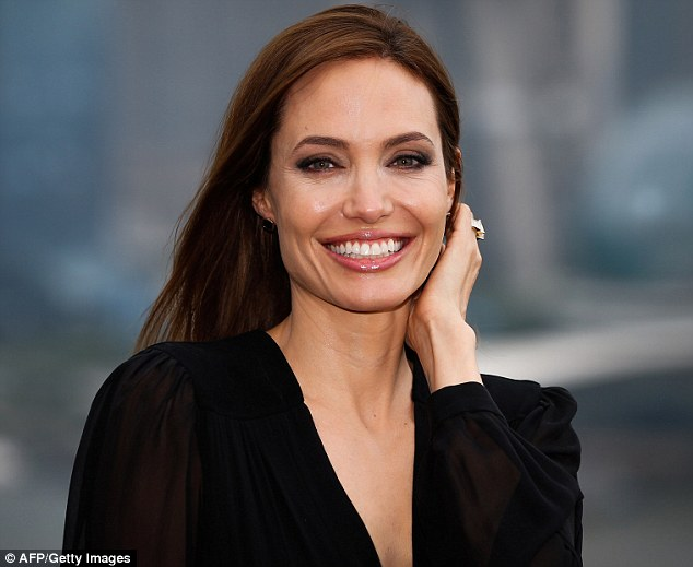 Hit movie: Angelina, shown earlier this month in Shanghai, saw Maleficent debut at the top of the weekend box-office