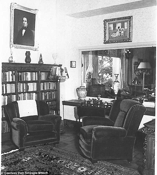 Comfort: The original living room can be glimpsed through this photograph