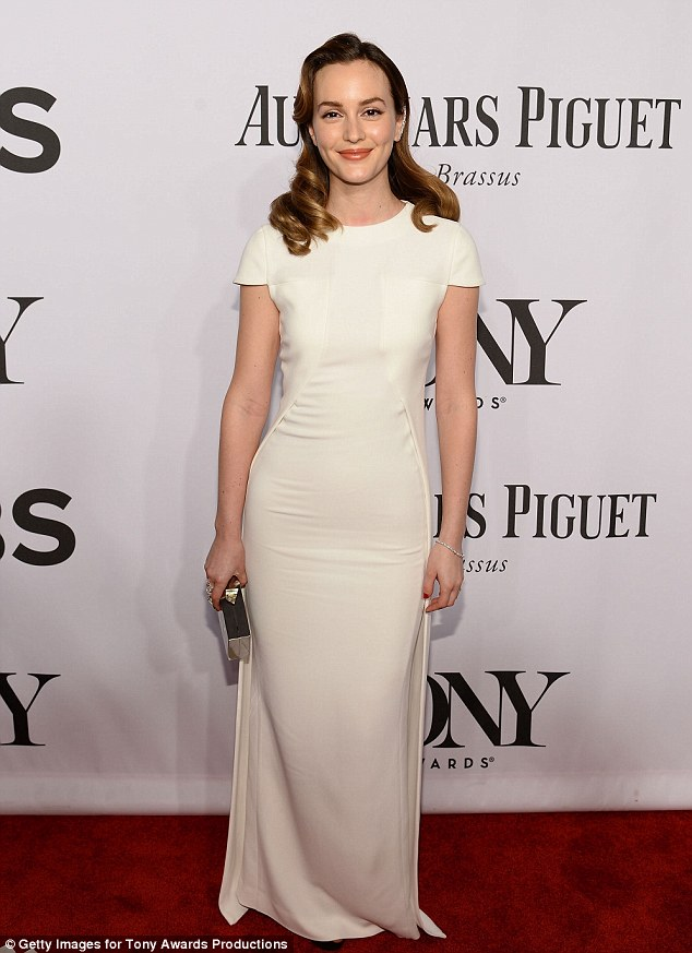 The actress wore white! The Gossip Girl actress rocked a Antonio Berardi dress with Jimmy Choo shoes