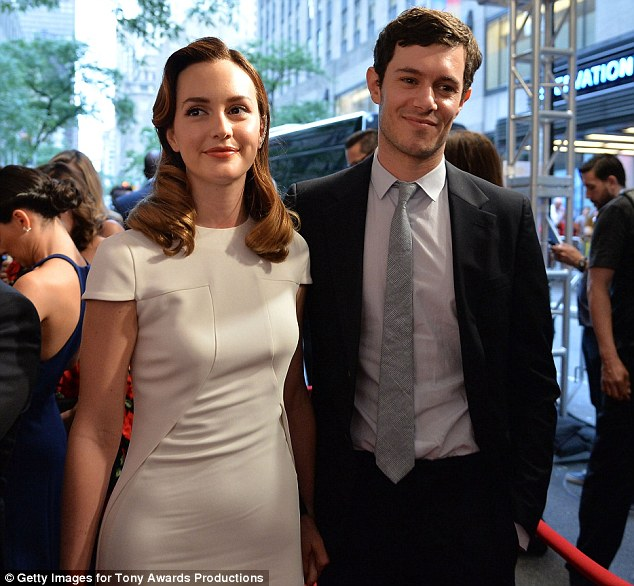 Look of love: Leighton and Adam had a certain glow about them at the awards event