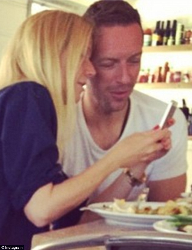 Consciously cosy: The couple, pictured in an Instagram photo, enjoyed a close meal at California's Malibu Farm