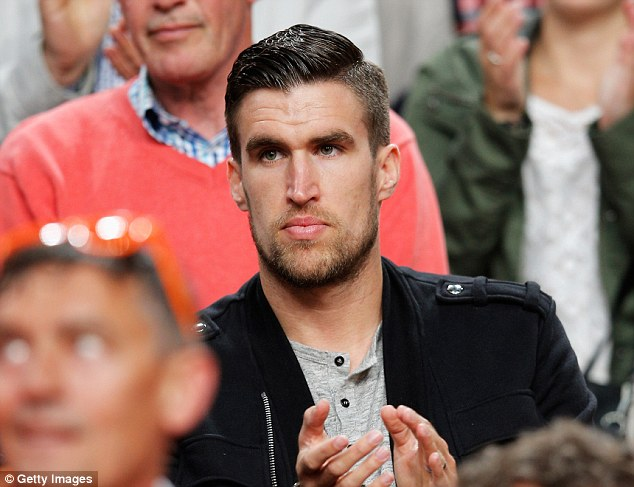 From the sidelines: Injured star Kevin Strootman is forced to watch his international team-mates in action