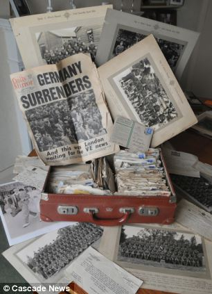 Treasure trove: It took Mrs Aighton 10 years to find the courage to look through the collection