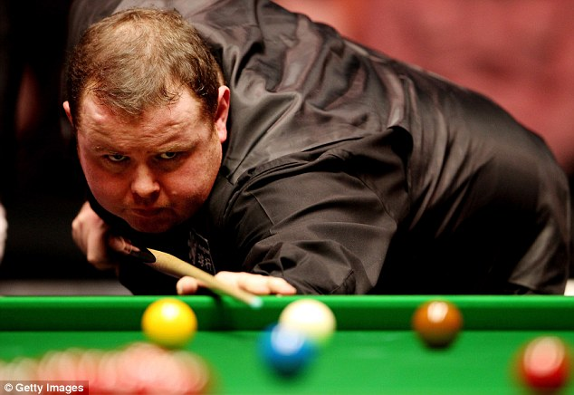 Focused: Stephen Lee in action against Mark Selby during the Masters Championship