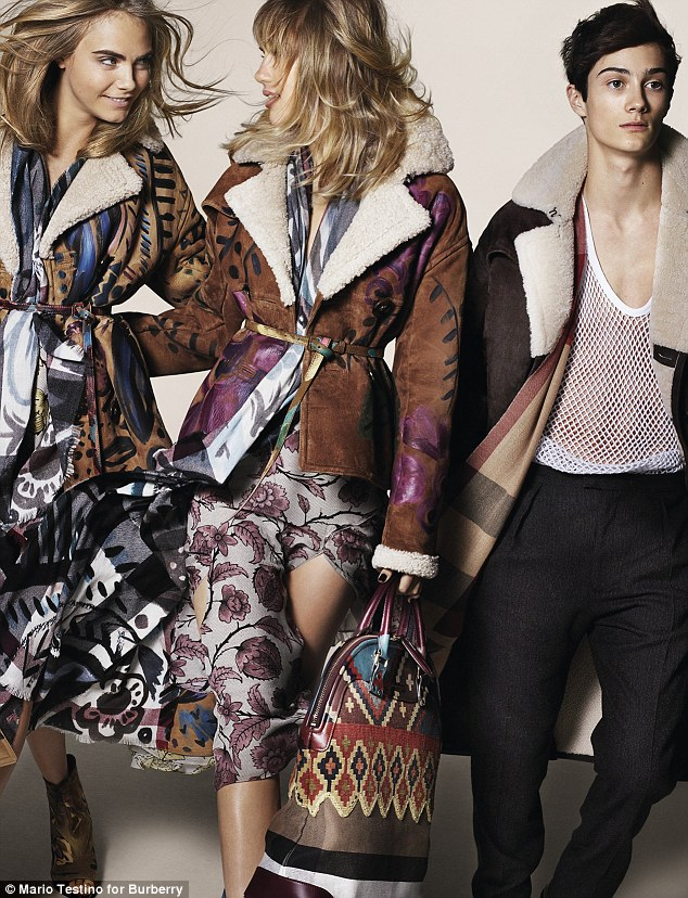 The look of love: Cara and Suki live together and are best friends - and now they're bringing their chemistry onto the latest Burberry campaign