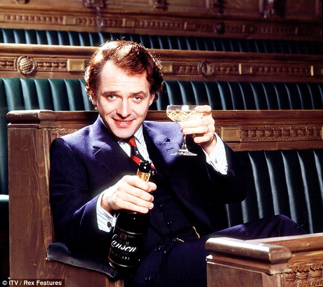 Comedy gold: The New Statesman was written by Laurence Marks and Maurice Gran at the request of, and as a starring vehicle for, its principal actor, Rik Mayall (pictured here)