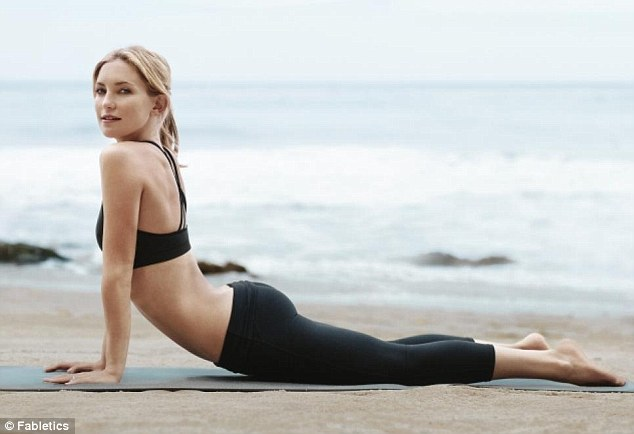 'I'm a DVD girl': Hudson, co-owner of athletic wear company Fabletics, told People magazine in May that she stays fit with the frequent use of workout DVDs like The Brazilian Butt Lift