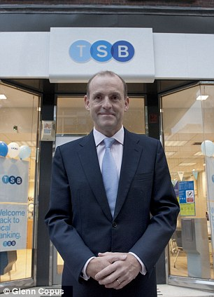New kid on the block: TSB led by Paul Pester launched its stock market floatation yesterday and also wants to grow current account customers