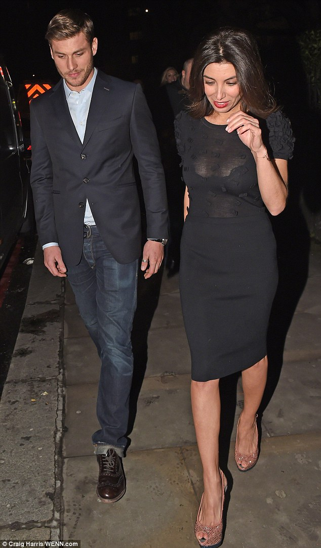 Supportive ex: Mezghan Hussainy brought her boyfriend to the opening night of Simon Cowell's musical, I  Can't Sing, in London in March
