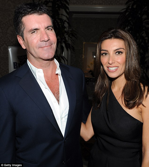 Exes: Simon Cowell and Mezghan Hussainy in Beverly Hills in May 2010