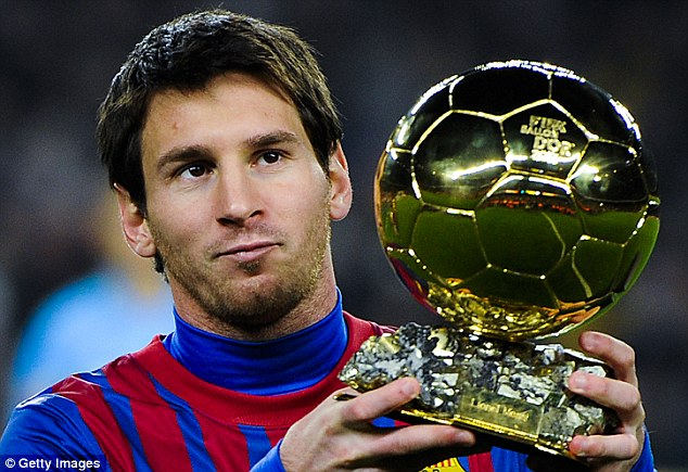 World's best! Lionel Messi has won a record four coveted Balon d'Or awards while playing for Barcelona