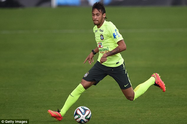 Star man: Brazil's hopes at their home World Cup rest squarely on the shoulders of the Barcelona forward