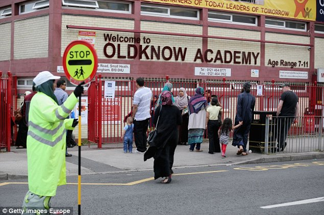 """BIRMINGHAM, ENGLAND - JUNE 10:  A general view of Oldknow Academy, one of the Birmingham Schools at the centre of the 'Trojan Horse' inquiry on June 10, 2014 in Birmingham, England. British prime minister David Cameron has today set out values that he believes should be taught in British schools after allegations of a """"Trojan Horse"""" extremism plot in Birmingham schools.  (Photo by Christopher Furlong/Getty Images)"""