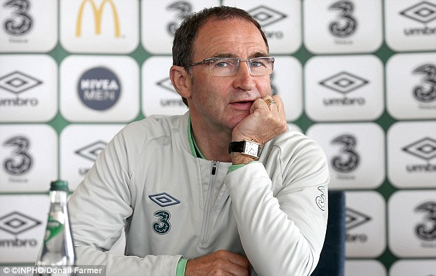 Unconcerned: O'Neill made light of Ireland's dramatic drop in the FIFA rankings to 70th place