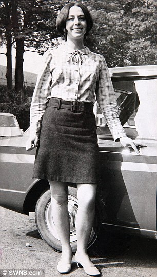 Bright young thing: A photo of Liz taken near Newcastle in 1966