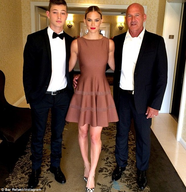 Her main men! Bar shared this snap on Sunday of the three as they headed to the Jewish Life Foundation Salute To Hollywood Gala