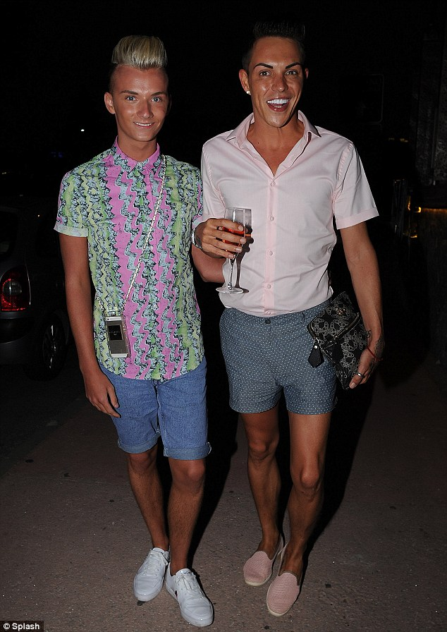 Here come the boys: Harry Derbidge and Bobby Cole Norri also made an appearance at Mosaik on Tuesday evening