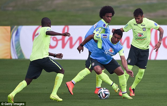 Pressure: Brazil are just two days away from starting the World Cup in their home nation