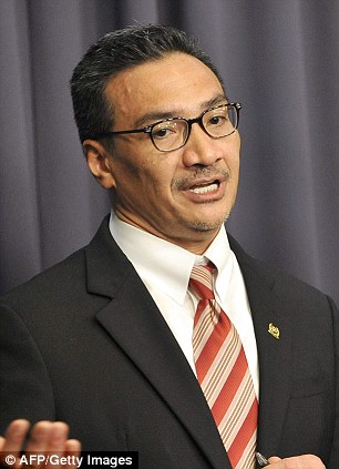 Malaysia's Deputy Defence Minister Abdul Rahim Bakri, pictured left, has said search costs will be shared 50-50 between Malaysia and Australia, while Malaysia's Transport Minister Hishammuddin Hussein, pictured right, confirmed his government had spent about $9.3 million in the search