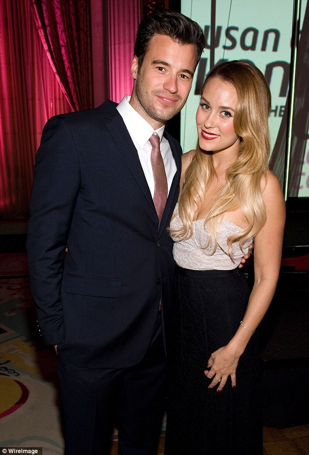 Wedding date: Lauren and fiance William Tell, 34, are rumoured to be getting hitched in the fall