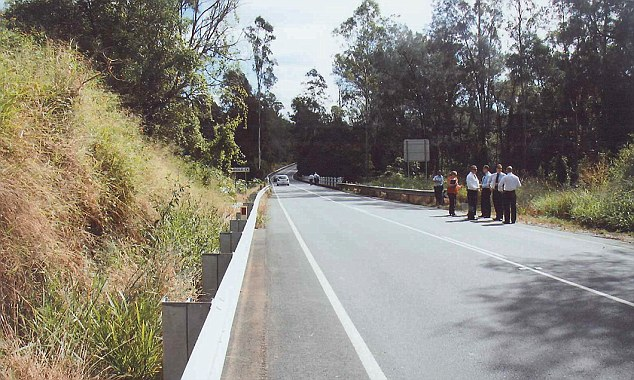 Scene pictures submitted in court capture detectives gathering near the place where Allison's body was discovered