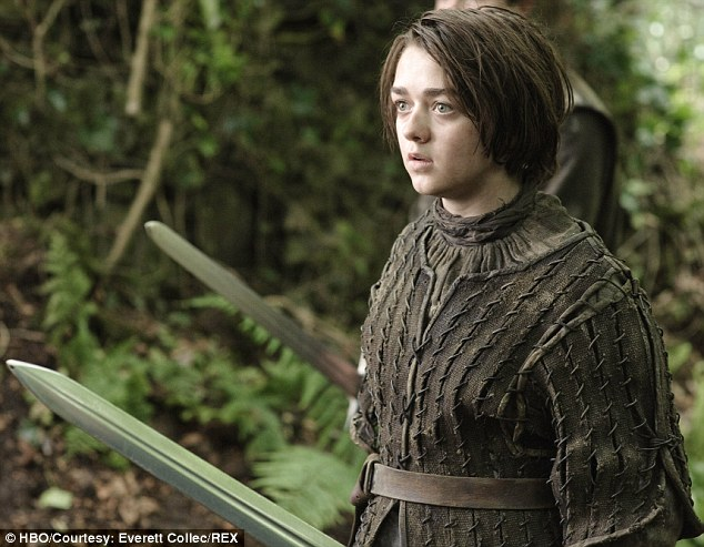 Fame may be a double edged sword: But Maisie says she loves all the attention that comes from playing Arya
