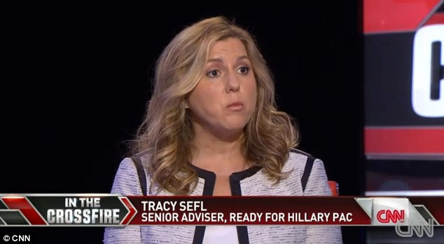 Tracey Sefl, a senior advisor to the Ready For Hillary PAC, insisted that Clinton 'is not going to apologize for something she need not apologize for'