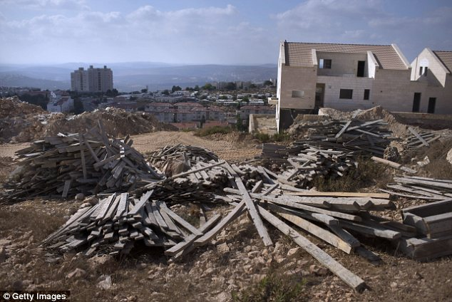 Politically correct: Israel has built Jewish settlements on a little more than 1 per cent of the disputed West Bank territories, but it has become commonplace for politicians to refer to Tel Aviv as a wholesale 'occupier' of Palestinian lands