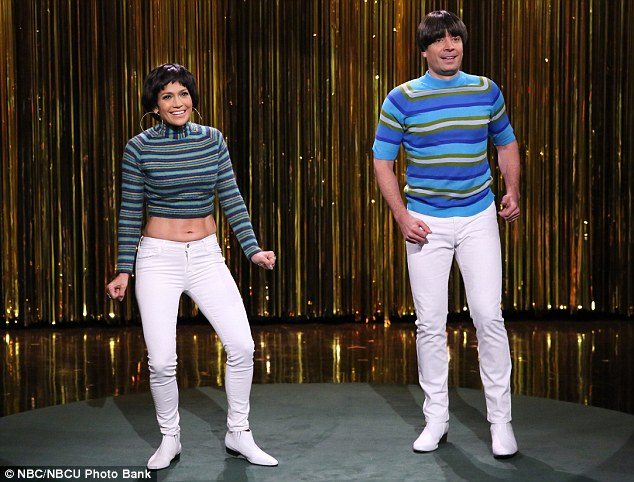 Can only be one: Tension broke out as the two dancers in tight pants realized only one could have the tightest pants