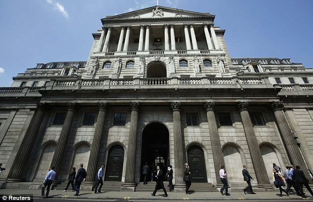 Pressure: The Bank of England is facing increasing pressure to raise interest rates at the economy continues to recover