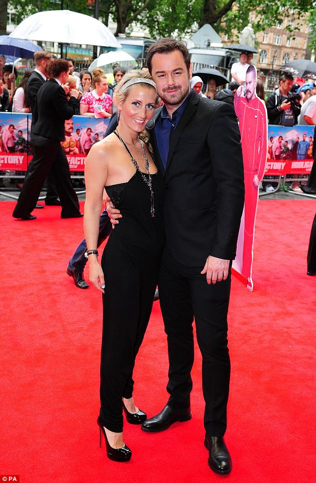 Elegant: EastEnders actor Danny Dyer and Joanne Mas arrive at the The Hooligan Factory Premiere